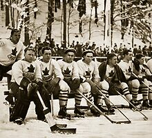 The Canadian Ice-Hockey Team by Bridgeman Art Library