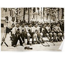 The Canadian Ice-Hockey Team Poster