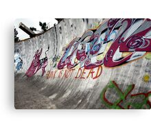 Punk's not dead. Olympic bobsled run, Sarajevo Canvas Print