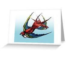 Swallows Greeting Card