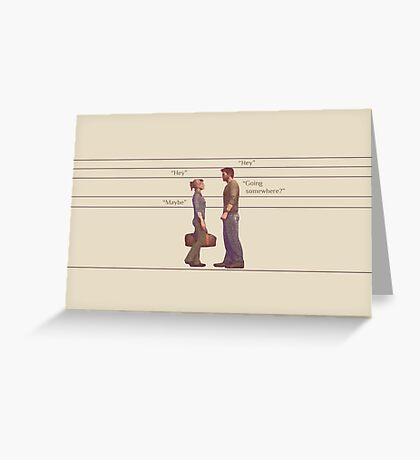 Nate and Elena Greeting Card