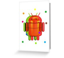 Android exploding colours Greeting Card