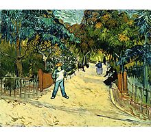 Vincent Van Gogh  - Entrance to the Public Gardens in Arle, 1888 Photographic Print