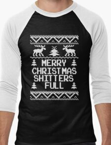 Merry Christmas Shitters Full Ugly Christmas Sweater Men's Baseball ¾ T-Shirt