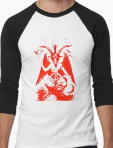 Red Baphomet Men's Baseball ¾ T-Shirt