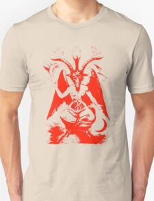 Red Baphomet Unisex T-Shirt