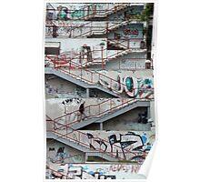 Graffiti Stairs, Sarajevo Poster