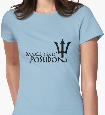 Daughter of Poseidon, dark print Womens Fitted T-Shirt