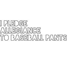 Pledge to Baseball Pants Photographic Print