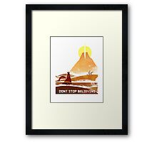 Journey - Don't Stop Believing  Framed Print