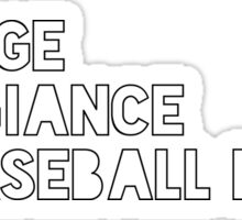 Pledge to Baseball Pants Sticker