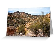 Dressed in Yellow Apache Trail Greeting Card