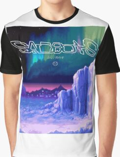 Icy Winter Vaporwave Aesthetics Graphic T-Shirt