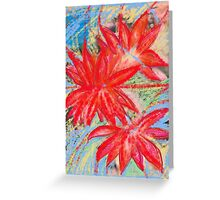 Red lotuses reflected Greeting Card