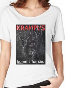 Krampus kommt fur sie. Women's Relaxed Fit T-Shirt
