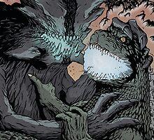 Godzilla vs. Pacific Rim by Killustration