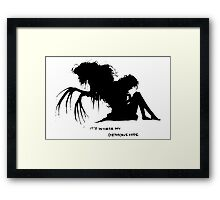 Where my demons hide Framed Print