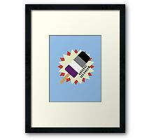 Asexual Popsicle Framed Print