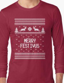 Merrry Festivus Ugly Holiday Sweater Long Sleeve T-Shirt