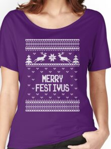 Merrry Festivus Ugly Holiday Sweater Women's Relaxed Fit T-Shirt