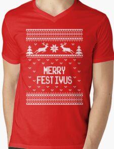 Merrry Festivus Ugly Holiday Sweater Mens V-Neck T-Shirt