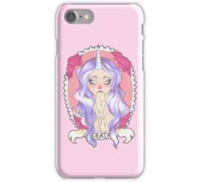 Pastel Death, pastel pink. iPhone Case/Skin