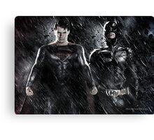 Batman Superman - Justice  Canvas Print