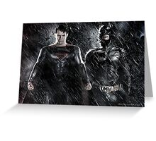 Batman Superman - Justice  Greeting Card