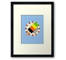 Aromantic Popsicle Framed Print