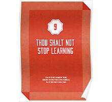 Commandment #9 of graphic design Poster