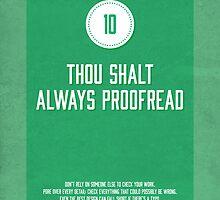 Commandment #10 of graphic design by janna barrett