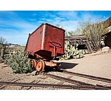 Goldfield Mining Car Photographic Print