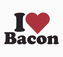 I Heart Love Bacon Tee by HeartsLove