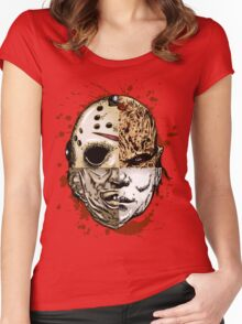 HORROR MASHUP Women's Fitted Scoop T-Shirt
