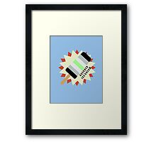 Agender Popsicle Framed Print