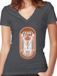 Aziz Light-The Divine Brew-alternate Women's Fitted V-Neck T-Shirt