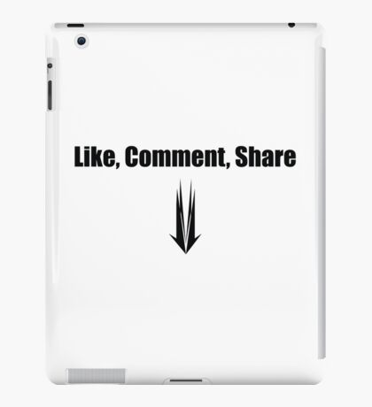 Like, comment, share iPad Case/Skin