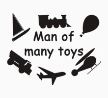 Man of many toys Kids Tee