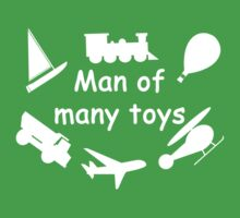 Man of many toys white Baby Tee