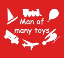 Man of many toys white One Piece - Short Sleeve
