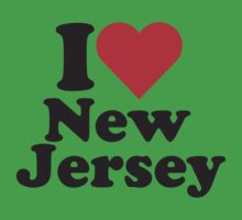 I Heart Love New Jersey Kids Clothes