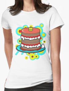 Pancake Womens Fitted T-Shirt