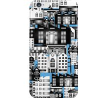 SPLASHYARTYSTORY - ALL ABOUT BUILDINGS blue iPhone Case/Skin