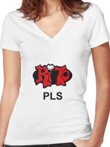 Rito Pls Women's Fitted V-Neck T-Shirt
