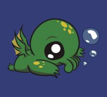 Baby Cthulhu Likes Bubbles T-Shirt