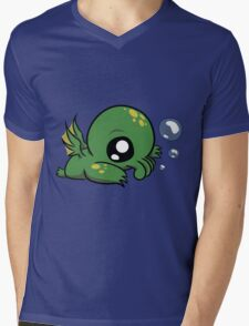 Baby Cthulhu Likes Bubbles Mens V-Neck T-Shirt