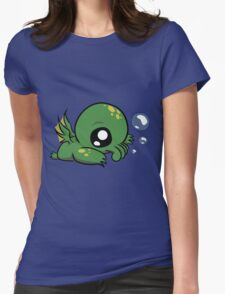 Baby Cthulhu Likes Bubbles Womens Fitted T-Shirt