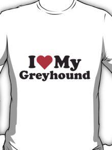 I Heart Love My Greyhound T-Shirt