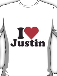 I Heart Love Justin T-Shirt