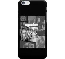 Murder Death Arson: Norway (Black and white) iPhone Case/Skin